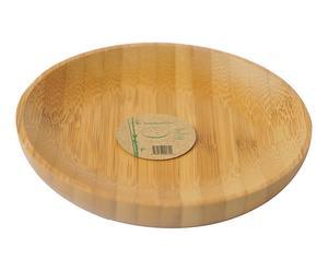 Set de 6 platos de té en bambú