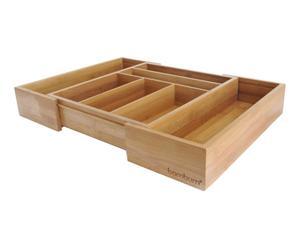 Organizador de cubiertos en bambú