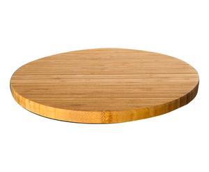 Plato giratorio de bambú