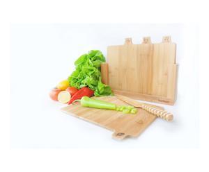Set de 4 tablas para cortar en bambú