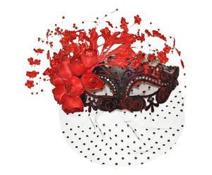 Máscara veneciana de polirresina – rojo y negro