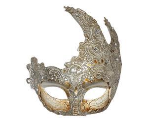 Máscara veneciana de polirresina – plata y dorado