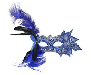 Máscara veneciana de polirresina - azul