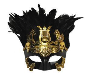 Máscara veneciana de polirresina, grande – negro y oro
