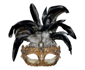 Máscara veneciana de polirresina, pequeña – negro y dorado