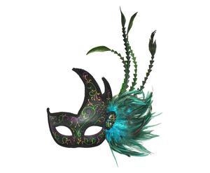 Máscara veneciana de polirresina – negro y azul