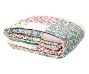 Edredón en patchwork de algodón, multicolor – 160x160