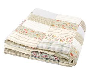 Plaid acolchado de algodón, crudo – 160x160