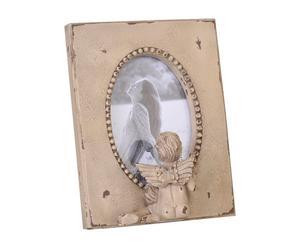 Marco de resina Ángel, beige – 17x22