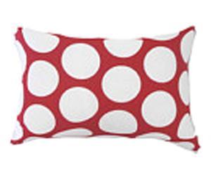 Funda de cojín de algodón Viplav - rojo y blanco