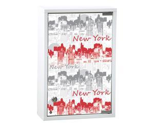 Armario de baño Pharmacie City, blanco y rojo – 30x45