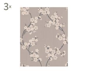 Set de 3 rollos de papel pintado Cherry blossom - 10m