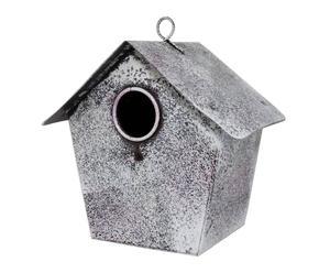 Caseta para pájaros de hierro – blanco decapado