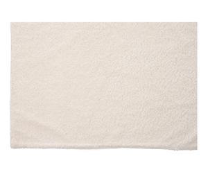 Plaid de franela, crema - 160x130