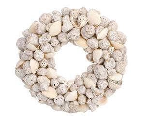 Corona decorativa de conchas y piedras  - Ø21