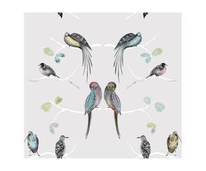 Papel pintado Pájaros – gris