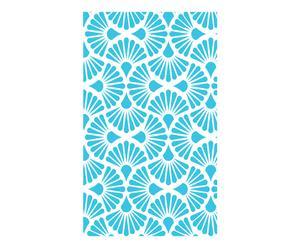 Papel pintado DANA, turquesa y blanco – 300x48