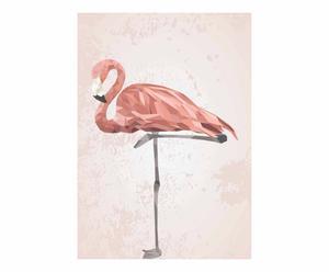 Impresión decorativa Ema, rosa y beige - 30x42