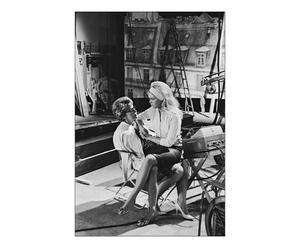 Fotografía decorativa Brigitte Bardot y Christine Gouze Renal – blanco y negro