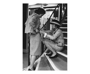 Fotografía decorativa Coco Chanel y Annie Girardot – blanco y negro