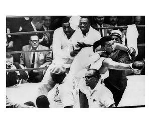Fotografía decorativa Muhammad Ali contra Brian London – blanco y negro
