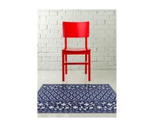 Alfombra en PVC y vinilo Gam, azul y blanco – 80x60