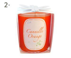 Set de 2 velas perfumadas – Naranja y canela