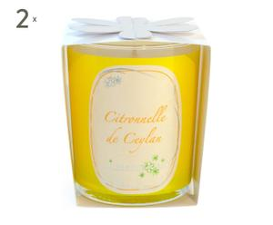 Set de 2 velas perfumadas – Citronela