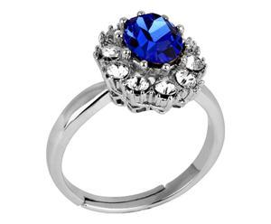 Anillo Couronne - plata y azul