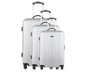 Set de 3 maletas en ABS BUFFALO - plata