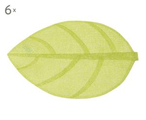 Set de 6 manteles individuales de plástico Feuille - verde
