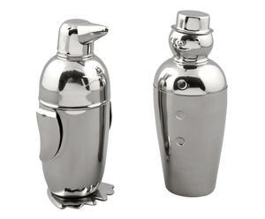 Set de 2 cocteleras de acero - plata