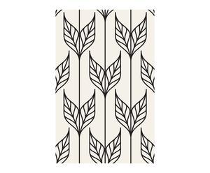 Tira de papel pintado Enzo, negro y blanco - 192x270cm