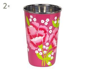 Vaso de acero inoxidable Serenity - rosa I