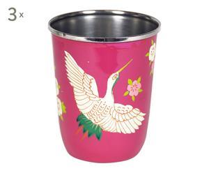 Vaso de acero inoxidable Crane - rosa II