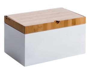 Panera en madera de bambú - blanco y natural