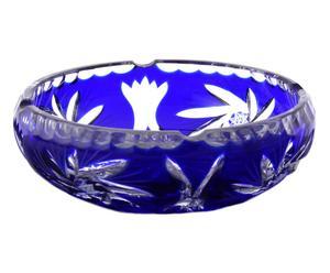 Cenicero de vidrio soplado - azul