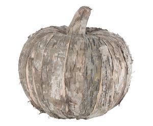 Calabaza decorativa en madera de abedul, natural - Ø20 cm
