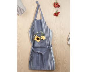 Delantal de cocina a rayas - Azul