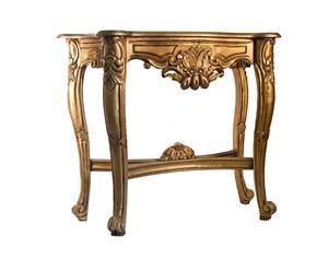 Consola de madera dorada Argelia