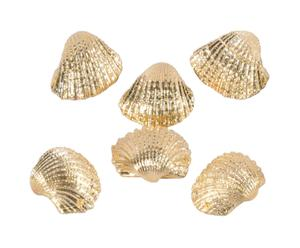Set de 6 conchas decorativas – oro