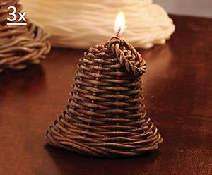 Juego de 3 velas de cera Jingle Bells - Marrón