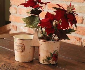 Set de 2 macetas Noel