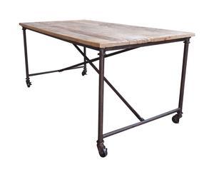 Mesa de madera y hierro Vintage