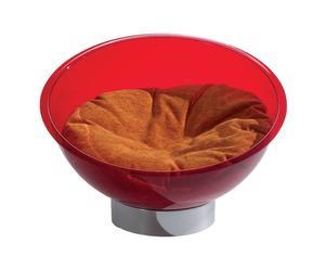 Cama para mascotas en plexiglás y algodón Bubble - Rojo