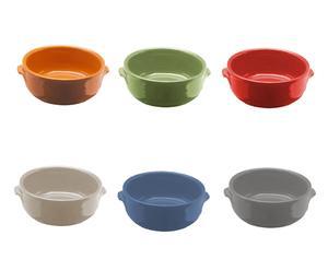Set de 6 cazuelitas de terracota - multicolor