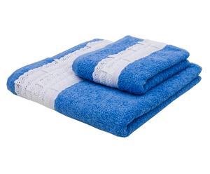 Juego de 2 toallas Sangallo – Azul