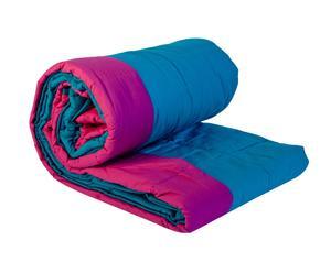 Edredón de doble cara – azul y rosa