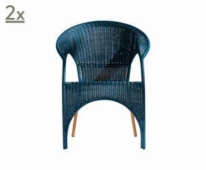 Set de 2 sillones Fina Filipina, por OSCAR TUSQUETS – azul