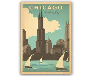 Lámina Chicago, de Joel Anderson